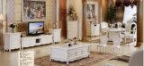 Europa casa de madeira escura, televisão, mesa de café de mármore (A302)