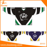 Venda Por Atacado Custom Hockey Jersey Jersey de Hóquei no gelo Sublimação Europeia com Tackle Twill Embroidery