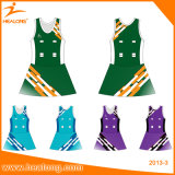 Les femmes de l'équipe Healong Sublimation Netball Uniforms Robes Jupes