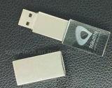 1GB/2GB/4GB/8GB/16GB/32GB/64GB personalizou a movimentação de cristal da pena do USB do logotipo do laser 3D