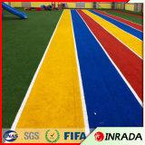 يرتّب زخرفة مرج اصطناعيّة زرقاء/أصفر/لون قرنفل يلوّن عشب اصطناعيّة