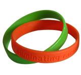 Double bracelet de bracelet de silicium d'amoureux de mode de qualité,