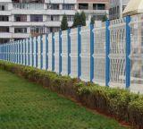 PVC покрыл загородку треугольника, сваренную загородку ячеистой сети