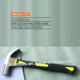 H-137 строительного оборудования ручных инструментов британский тип выступе молоток с ручкой с пластиковым покрытием