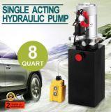 Éléments à simple effet 12V &#160 d'énergie hydraulique ; Réservoir en métal de 8 quarts pour le vidage mémoire Trailer&#160 ;