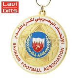 高品質の工場価格安い習慣によって刻まれるアラブ首長国連邦の金のフットボールのスポーツメダル