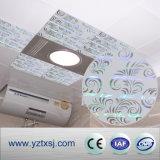 Tuiles de plafond de PVC de surface d'impression avec une cannelure