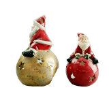 Supporto di candela di ceramica del Babbo Natale per la decorazione domestica