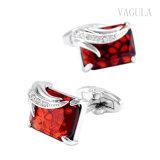 En Argent plaqué VAGULA Cristal rouge Gemelos Liens brassard 162
