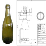 Frasco de vidro reusável verde vazio de 187ml Redwine