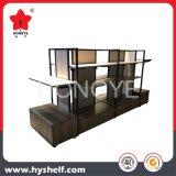 Alta calidad de madera y estante de visualización del metal