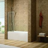 1 tela da banheira da dobradura, porta do banho, porta da cuba