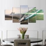 5 stukken Schilderen van het Af:drukken van de Kunst HD van het Beeld van het Canvas van het Decor van de Muur van het Huis van de Valk van het Millennium van de Vechter van de Band van Star Wars het Moderne op de Kunstwerken van het Canvas