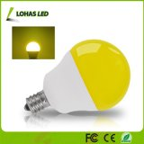 2017 bombilla del fallo de funcionamiento amarillo equivalente del bulbo 40W de la luz ámbar del nuevo producto G14 5W LED con la base E12