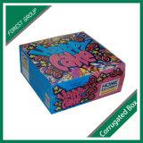 Caixa de papel colorida para o gelado caseiro