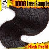 Cabelo humano na extensão brasileira do cabelo 100%Unprocessed