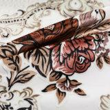 Tela 2018 del terciopelo con una flor de la impresión para el sofá (FEP019)