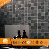 새로운 디자인 기하학적인 은 및 까만 유리제 모자이크 (H638002)