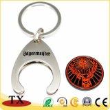 Kundenspezifische Münzen-Schlüsselring-Einkaufen-Münze mit Schlüsselring