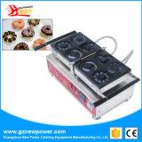 4 formas de Aço Inoxidável Comercial Dount Manual da Máquina de Fazer Mini Donut Maker