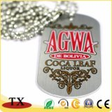Militar de metal de aluminio Custom Dog Tag
