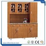 Module de cuisine en bois estampé par PVC direct de forces de défense principale d'usine