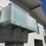 De Balustrade van het Balkon van het Dek van de Portiek van het Traliewerk van het Glas van Frameless voor Verkoop