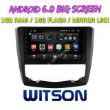 """Witson grande ecrã de 9"""" com sistema Android 6.0 aluguer de DVD para a Renault Kadjar 2015-2016"""