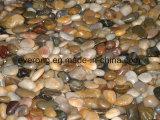 혼합 색깔을%s 가진 자연적인 편평한 &Polished 강 돌 자갈