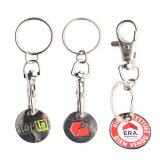ほとんどは最上質のロゴによって印刷された金属の硬貨のホールダーKeychainのカスタム形の金属Keychainの記念品の金属Keychainを歓迎した