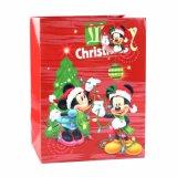 クリスマスの赤いMickey Mousの木靴の赤ん坊のギフトの紙袋