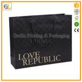 Изготовленный на заказ роскошный бумажный мешок подарка покупкы (OEM-GL-003)