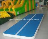 Estera azul inflable de la gimnasia del PVC para el ejercicio