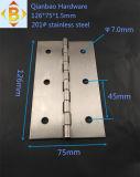 Верхний шарнир двери изготовления на заказ 126*75*1.5mm сбывания