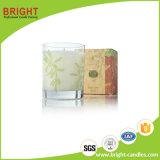 Velas de cristal al por mayor del tarro con el rectángulo de color modificado para requisitos particulares