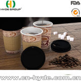 Takeaway напечатанная арабская бумажная кофейная чашка с крышками