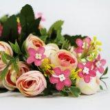 Venta caliente guirnalda de flores de plástico por parte de decoración de boda