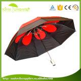 Parapluie ouvert de fois de la fin 3 d'automobile faite sur commande de logo de prix usine