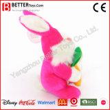 Juguete suave del conejito de la felpa del animal relleno del conejo de la zanahoria colorida del asimiento
