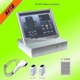 Lignes de la machine 11 de levage de face de système de la Corée d'ultrason de Lipo Hifu des prix les plus inférieurs d'usine