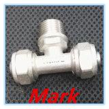 真鍮の圧縮のめっきされる適切な男性のティー25mmのサイズのニッケル