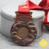 Venda por grosso de polícia do Exército de boa qualidade de Taekwondo Medalha Fiesta Carnaval Esmalte Desportivos