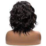 Cheveu noir de synthétique d'avant de lacet d'onde courte de qualité