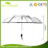 고품질 세륨 증명서 Poe/PVC는 3개의 겹 우산을 지운다