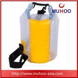 Sac sec de sports imperméables à l'eau bleus de PVC pour le canotage