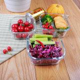 3 Prep Containers van de Maaltijd van het Glas van het Compartiment van de verdeler met Waterdicht Deksel