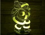 Indicatore luminoso di notte di illusione ottica per 7 colori che cambiano il caricatore alimentato natale dei regali 3D Byusb di natale