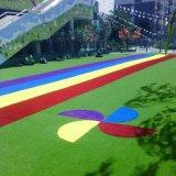 Het kleurrijke Goedkope Gras van het Tapijt van de Prijs Kunstmatige voor het Purpere Rode Roze Blauw van het Landschap