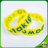 Bracelet fait sur commande chaud de silicones de logo de bandes de poignet de ventes