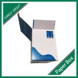 Cadre de papier estampé par logo bleu-clair de DEL